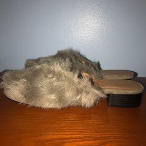 Furry mule clogs
